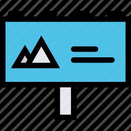 billboard, brand, branding, design, print icon