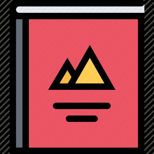 book, brand, brand book, branding, design, print icon