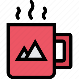 brand, branding, cup, design, print icon