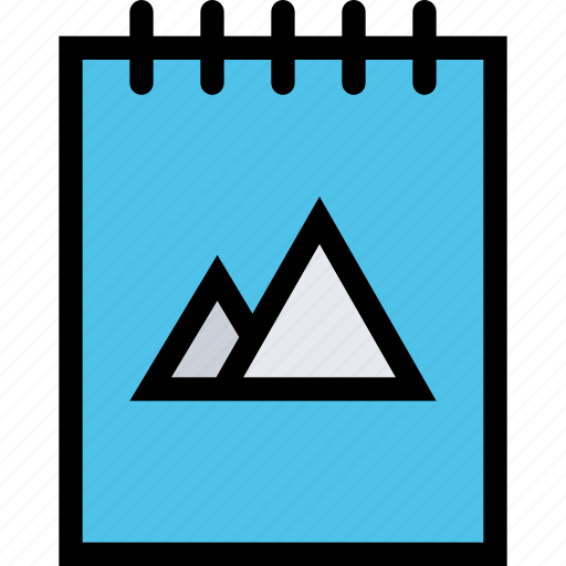 brand, branding, design, notebook, print icon