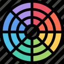 brand, branding, design, palette, print icon