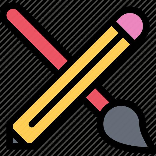 brand, branding, brush, design, pencil, print icon