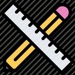 brand, branding, design, pencil, print, ruler icon