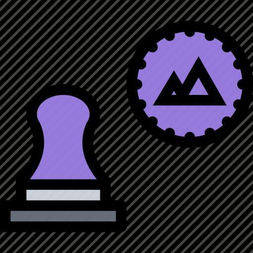 brand, branding, design, print, stamp icon
