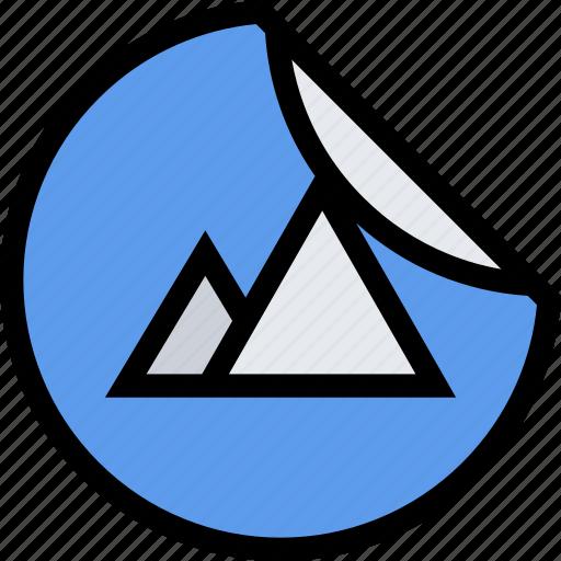 brand, branding, design, print, sticker icon
