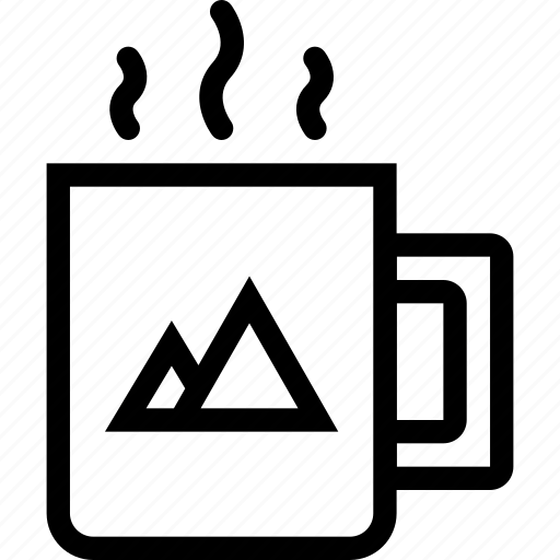 brand, branding, cup, design, print icon