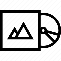 brand, branding, design, disk, print icon