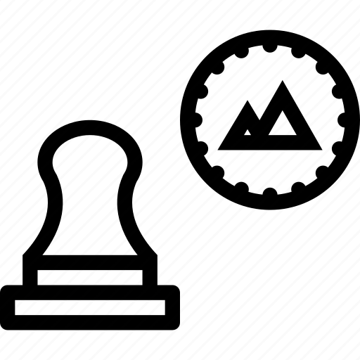 brand, branding, stamp icon