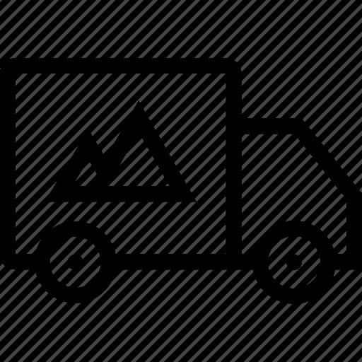 brand, branding, truck icon