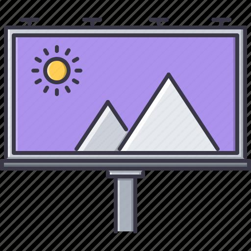 advertising, billboard, brand, design, print icon
