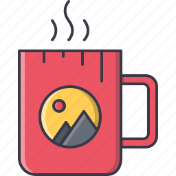 advertising, brand, cup, design, print icon