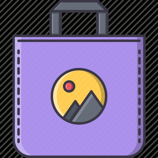 advertising, bag, brand, design, print icon