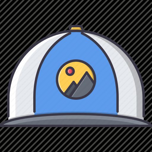 advertising, brand, cap, design, print icon