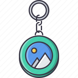 advertising, brand, design, keychain, print icon