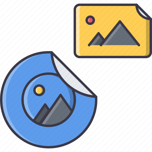advertising, brand, design, print, sticker icon