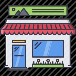 advertising, banner, brand, design, print, shop icon