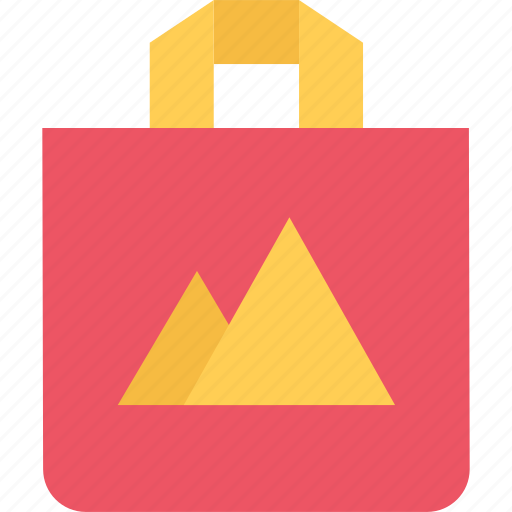 bag, brand, branding, design, typography icon