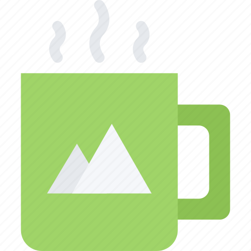 brand, branding, cup, design, typography icon