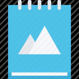 brand, branding, design, notebook, typography icon