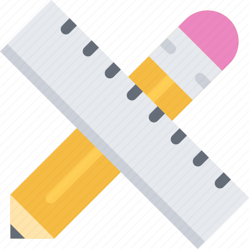 brand, branding, design, pencil, ruler, typography icon