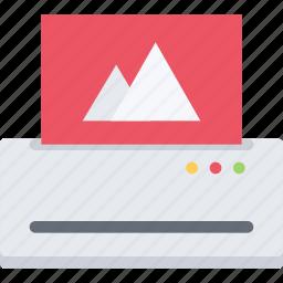 brand, branding, design, printer, typography icon