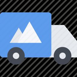 brand, branding, design, truck, typography icon