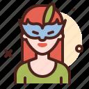 girl, mask, tourism, holiday, island
