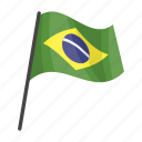 brazil, flag, national, state icon