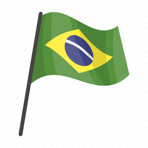 Brazil, flag, national, state icon