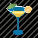 cocktail, drink, glass, lemon, liquor icon