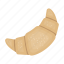 bakery, bread, bun, croissant, food icon