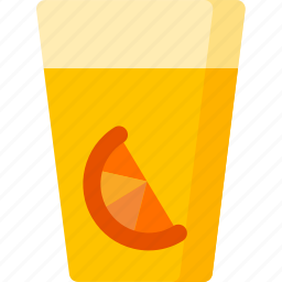 breakfast, drink, drinks, fruit, juice, orange, slice icon