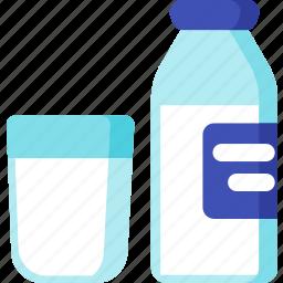 beverage, breakfast, dairy, drink, food, meal, milk icon