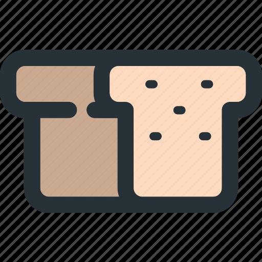 bakery, bread, breakfast, cooking, food, toast icon