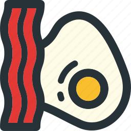 bacon, breakfast, eat, egg, food, kitchen, meal icon