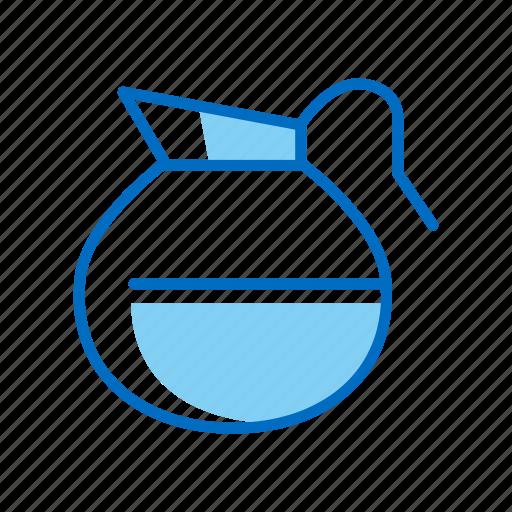 breakfast, coffee, decanter, pot icon