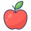 apple, fruit, healthy, red icon