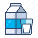 breakfast, carton, drink, milk icon