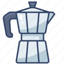 coffee, moka, pot icon
