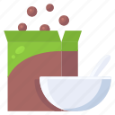 bowl, breakfast, cereal, snack icon