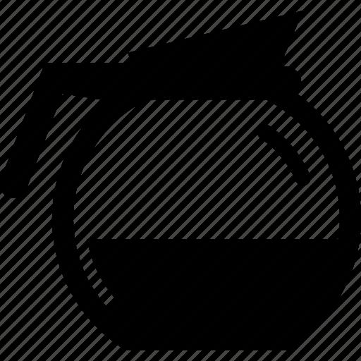 caffeine, coffee, glass, pot icon