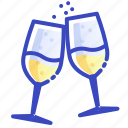 champagne, christmas, drink, wine, xmas icon