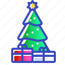 christmas, gifts, tree, xmas icon