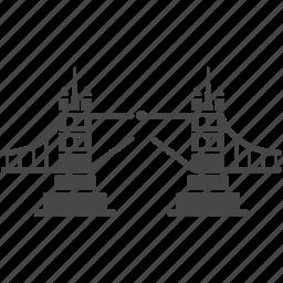 bridge, british, building, landmark, london, london bridge, tower icon
