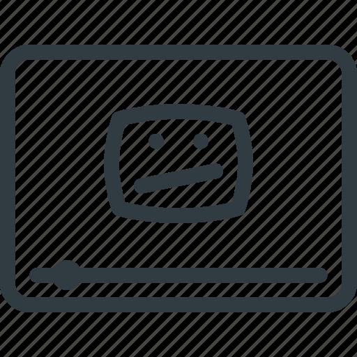 broken, video icon