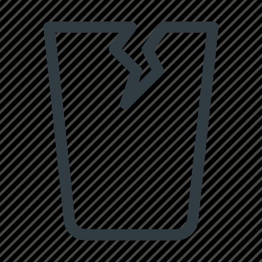 crushed, fragilebroken, glass icon