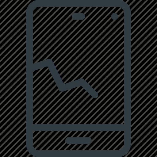 broken, crushed, fragile, phone icon