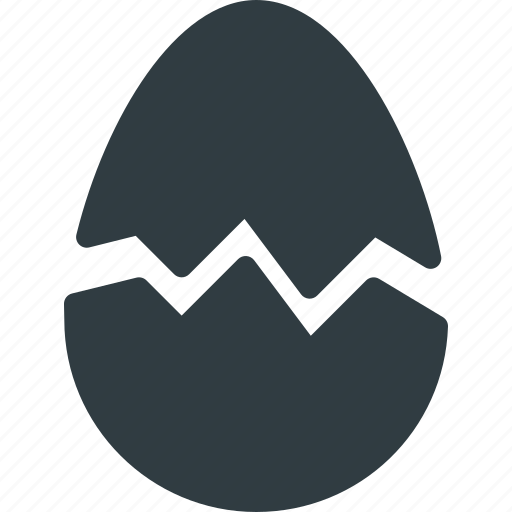broken, crushed, egg icon