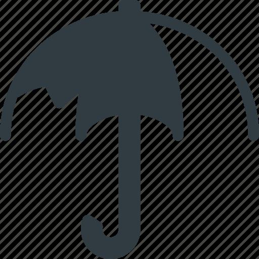 broken, crushed, umbrella icon