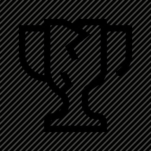 broken, cup, demaged, error, team, trophy, work icon